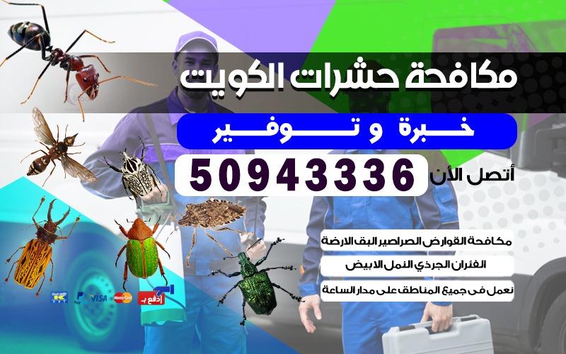 مكافحة حشرات وقوارض 50943336 الكويت جميع مناطق الكويت