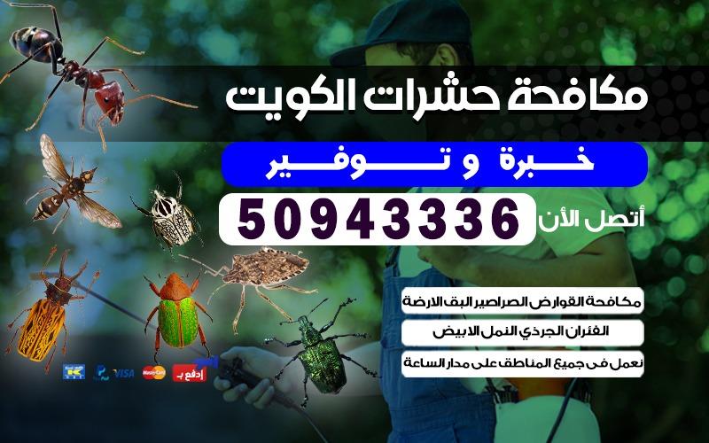 مكافحة حشرات قوارض صراصير الفردوس  50943336 الكويت