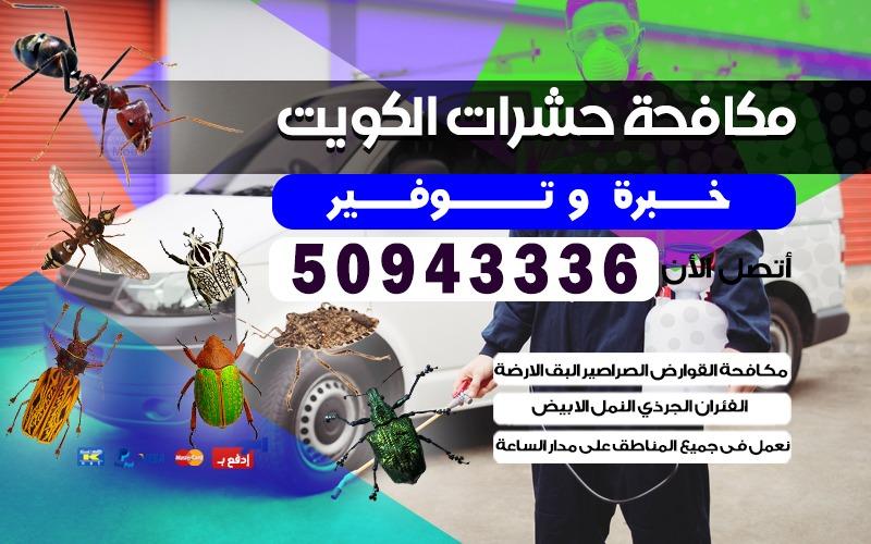 مكافحة الحشرات الصراصير عبدالله السالم 50943336 الكويت
