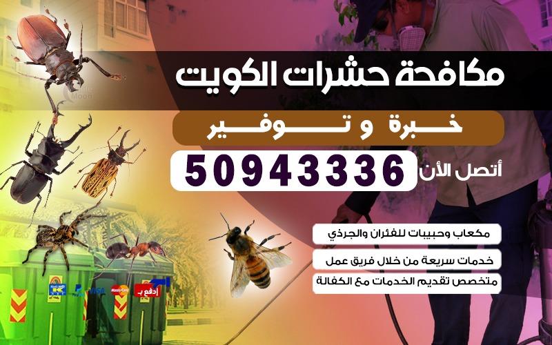 مكافحة الحشرات شاليهات الخيران 50943336 الكويت