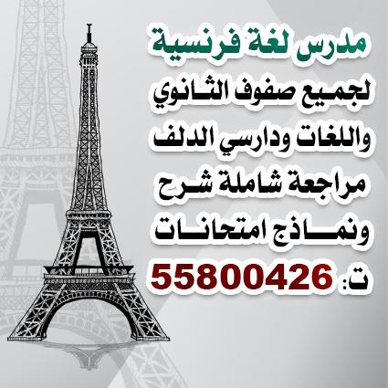 مدرس فرنسي حادي عشر وثاني عشر ودارسي الدلف مراجعة شرح امتحانات ت 55800426